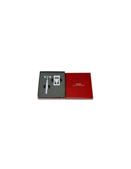 Feather Rasoio di Sicurezza Luxury AS-D2 in Acciaio Inossidabile