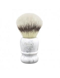 evo pennello da barba in fibra sintetica marble ego