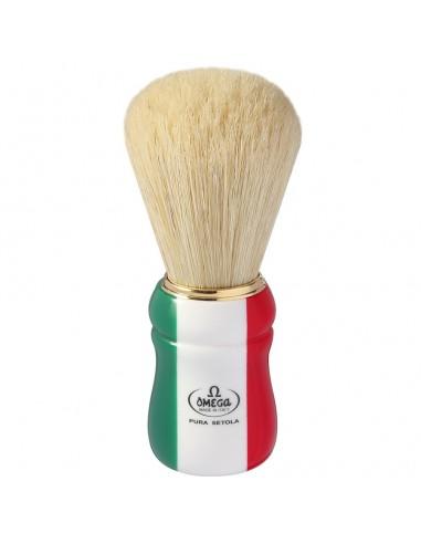 pennello da barba in setola 21762 manico tricolore
