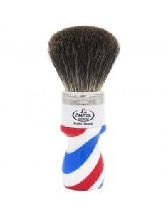 Omega pennello da barba barber pole 6807 in tasso nero best badger