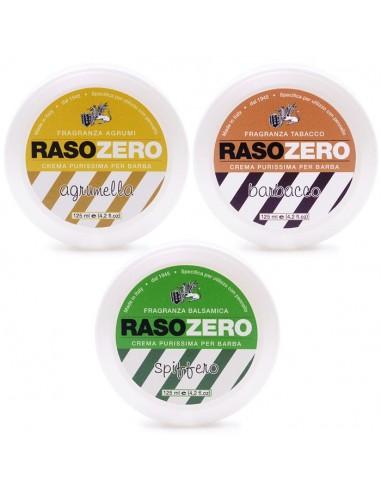 Set Saponi da barba Rasozero 125ml Spiffero, Agrumella, Barbacco. Made in Italy