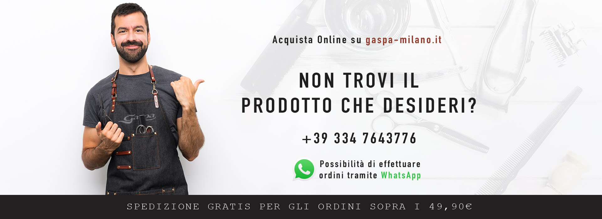 Acquista Online su gaspa-milano.it